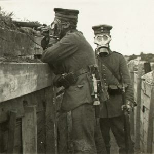 German soldiers in gas masks - Zeitgeist Tours WW1 battlefield tour